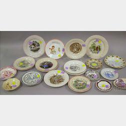 Twenty-one Children's Tableware Items