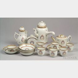 Chinese Export Porcelain Partial Tea Set
