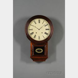 Rosewood Round Top Thirty-Day Fusee Wall Clock by Atkins Clock Company