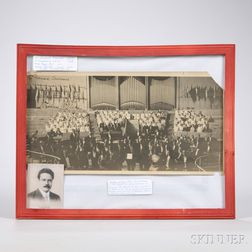 Framed Photograph of Willem Willeke and the Kneisel String Quartet
