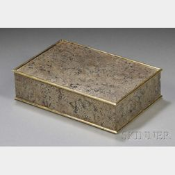 French Mixed Metal-mounted Marble Cigar Box
