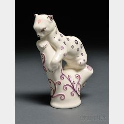 Wedgwood Queen's Ware Arnold Machin Design Model of a Leopard
