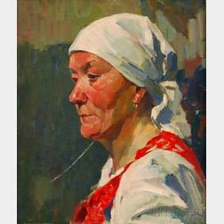 James Jeffrey Grant (American, 1883-1960)      Portrait of a Woman