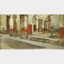 British School, 19th Century      Interior Ruins of Pompeii
