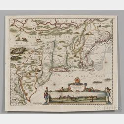 Northeast Coast of North America from New England to Virginia. Justus Danckerts (1635-1701)Novi Belgii Novaeque Angliae Nec Non Pennsyl