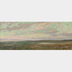 Arthur Hoeber (American, 1854-1915)      Cape Cod Marshes, The Evening Hour