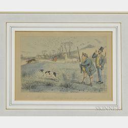 Framed John Leech Print of a Hunting Scene