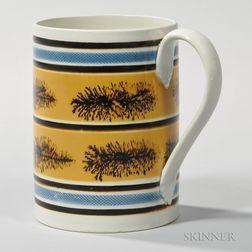 Mocha-decorated Pearlware Quart Mug