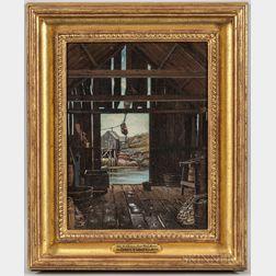 Ernest Wadsworth Longfellow (Massachusetts, 1845-1921)      Old Fish House, Saco Pool, Maine