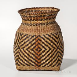 Large Southeast Woven Cane Basket