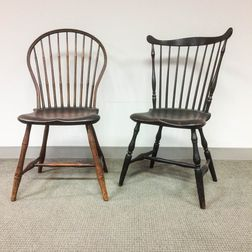 Bamboo-turned Bow-back Windsor and a Fan-back Windsor Side Chair