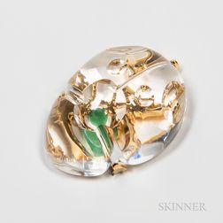Steuben Gold Bug Glass Sculpture