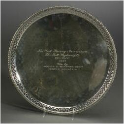 Sterling Footed Trophy Salver