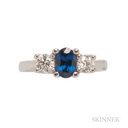 Platinum, Sapphire, and Diamond Ring, Cartier