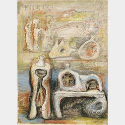 Henry Moore (British, 1898-1986)      Studies for Sculpture