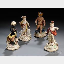 Four Derbyshire Porcelain Figures