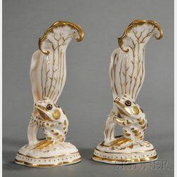 Two Similar Union Porcelain Frog Vases