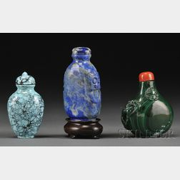 Three Hardstone Snuff Bottles