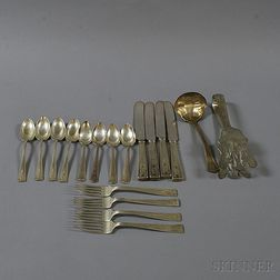 Approximately Eighteen Pieces of American Sterling Silver Flatware