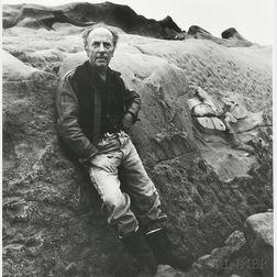 Imogen Cunningham (American, 1883-1976)      Edward Weston at Point Lobos