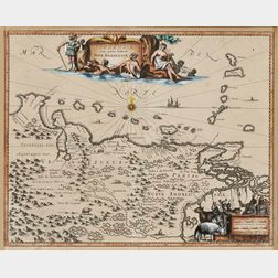 Venezuela. John Ogilby (1600-1676) Venezuela cum parte Australi Novae Andalusiae.