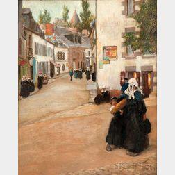 David Adolf Constant Artz (Dutch, 1837-1890)      A Street in Old Delft, Holland