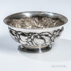 South American .900 Silver Center Bowl