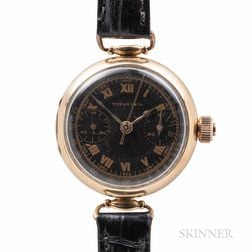 Tiffany & Co. 18kt Gold Monopusher Chronograph Wristwatch