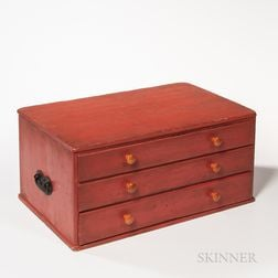 "Shaker Case of Three ""Add-on"" Drawers"