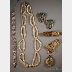 Small Group of Mostly Costume Jewelry