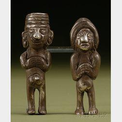 Pre-Columbian Silver Couple