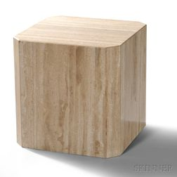 Travertine Marble End Table/Stand