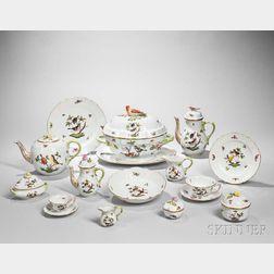"Extensive Herend Porcelain ""Rothschild Bird"" Pattern Luncheon Service"