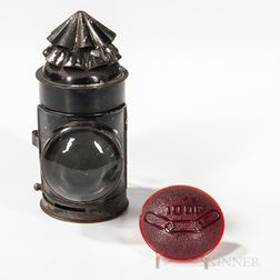 Odd Fellows Miner's Lamp and Red Lens