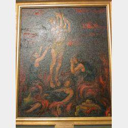 Framed Oil Orpheus