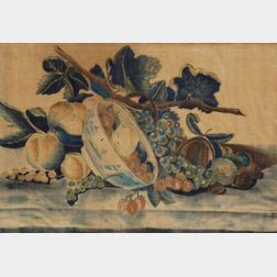 American School, 19th Century    Still Life of Fruit and a Chinese Export Porcelain Bowl.