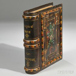 "Carved and Painted ""Complete Works of Shakespeare"" Book Box"