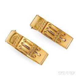 Pair of Antique Bicolor Gold Bracelets