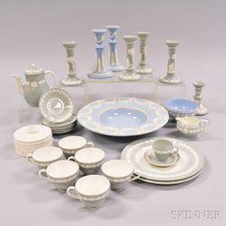 Twenty-eight Wedgwood Embossed Queen's Ware Items.