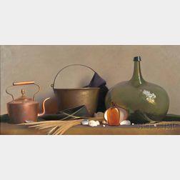 Robert Douglas Hunter (American, 1928-2014)      Still Life with Shells