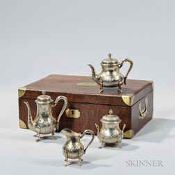 Four-piece French .950 Silver-gilt Tea and Coffee Service