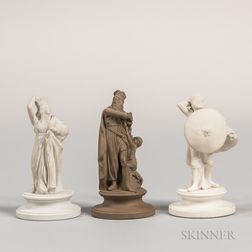 Three Wedgwood Chess Pieces