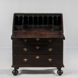 Early Black-painted Slant-lid Desk
