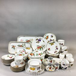 Approximately Sixty Pieces of Royal Worcester Evesham Pattern Tableware.     Estimate $20-200
