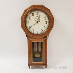 Seth Thomas Tiger Oak Regulator Wall Clock