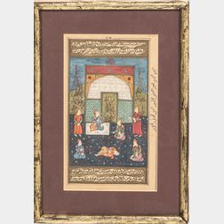 Framed Persian and Indian Manuscript Pages