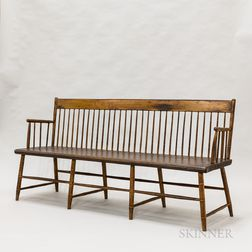 Bamboo-turned Maple Windsor Bench
