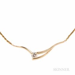 14kt Gold and Diamond Pendant Necklace