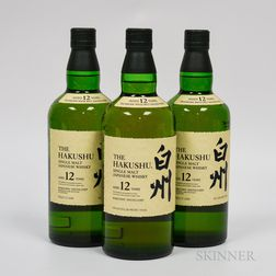 Hakushu 12 Years Old, 3 750ml bottles