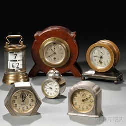Two Small Chelsea Clocks and Four Others